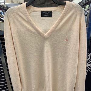 Christian Dior cream sweater vintage